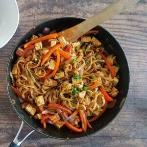 One Pan Coconut Noodles