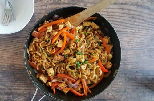 One Pan Coconut Noodles